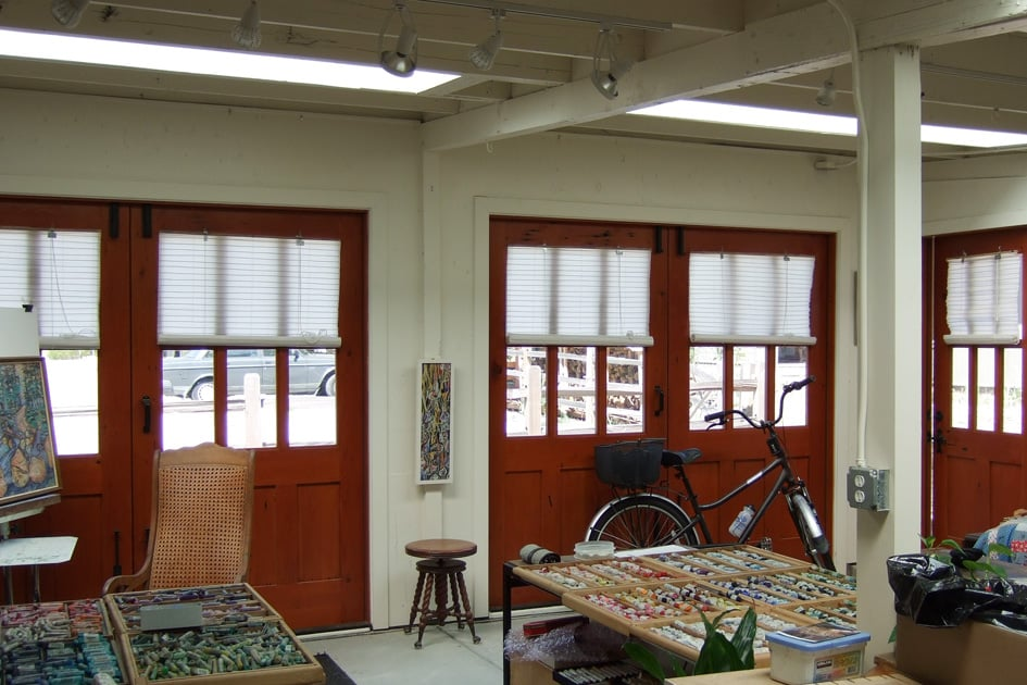 "18. ""The visual gift to the neighborhood was the installation of doors from the Real Carriage Door Company. People walking by stop to admire the doors - I have had oodles of compliments."" - Sandy of Sandy White Fine Art"