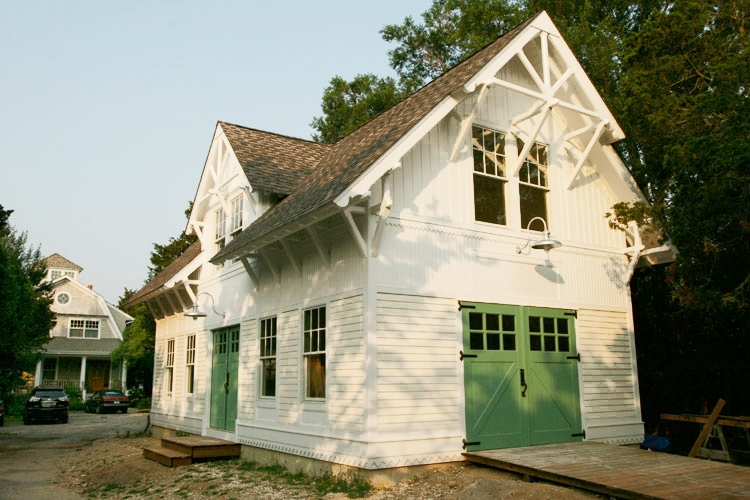 68. Classic Z Brace Carriage Doors (CL05) on Historic Renovation in Northport, NY