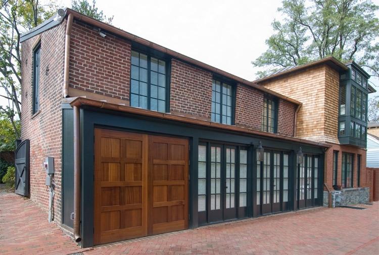 60. Custom Design – Square top, (4x2) flat panels, Sapele Mahogany, w/ butt hinges; Alexandria, VA