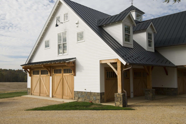 45. Custom Design – Square top, (1x5) lites, Z brace w/ tongue + groove panels, Western Red Cedar, w/ bean tip strap hinges; North Virginia