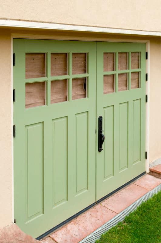 23.  CTL05 Design – Square top, (2x3) lites, (3) vertical raised panels, painted, w/ butt hinges; Berkeley, CA